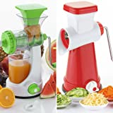 Ketsaal Summer Kitchen Special COMBO (Pack of 2) Fruits & Vegetable Juicer with steel handle & Fruits and Vegetable Manual Grater and Shredder.