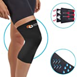 Copper Fitness NON SLIP Recovery Knee Brace, BREATHABLE & SWEAT Releasing Fabric for Men & Women, #1 PREMIUM QUALITY Copper Compression Infused Recovery Sleeve, Joint Pain Relief, Arthritis & Injury