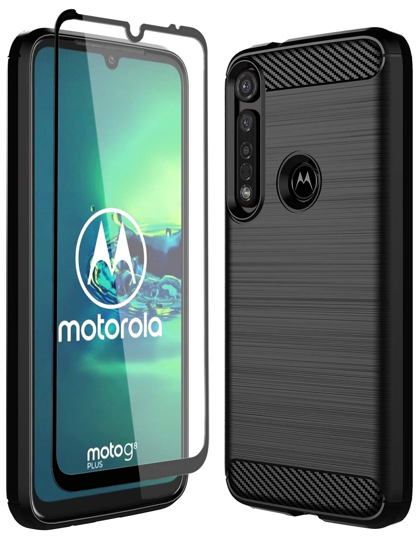 Funda + Vidrio para Moto G8 Plus PHULOK [81GTPPQ9]