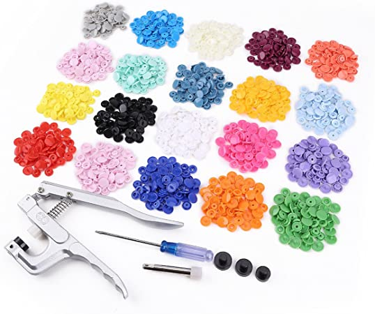 Allright Bouton Snap Pince 150//200//300/Lot T5/Snap Boutons pression plastique Boutons pression DIY Outil