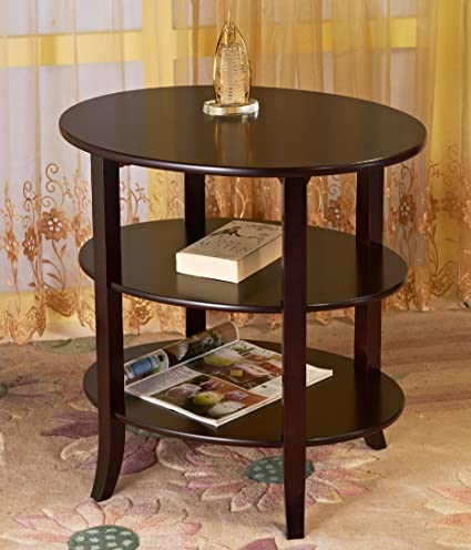 Frenchi Furniture 3 Tier Oval End Table