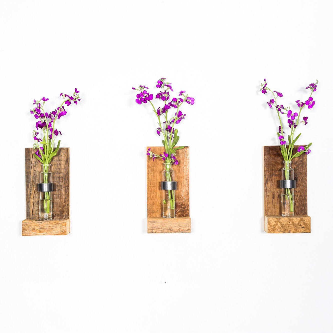 Wall mounted flower vase ; Flower Sconce; Hanging Planter; Rustic Wall Vase. Wall Mounted Vase. Wall Planter, Glass wall terrarium, Air Plant Wood Vase Sconce. Flower Vase.