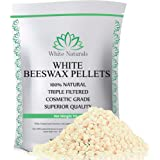 White Beeswax Pellets 1 lb (16 oz), Pure, Natural, Cosmetic Grade, Top Quality Bees Wax Pastilles, Triple Filtered…