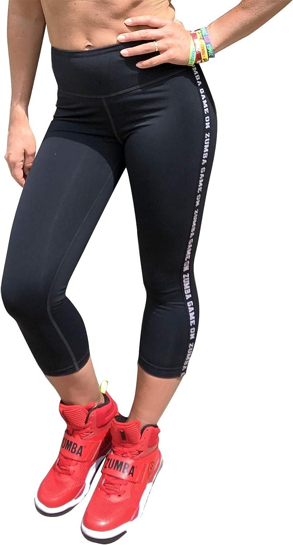 Zumba Fitness Damen Zumba Dance Compression Fitness Pantalon De Femmes Faire des Exercices Sport Elastiques Imprim/é Capri Leggings