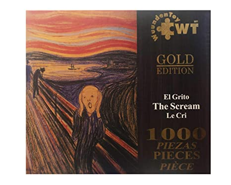 Wuundentoy Rompecabezas Gold Edition El Grito 1000 Piezas