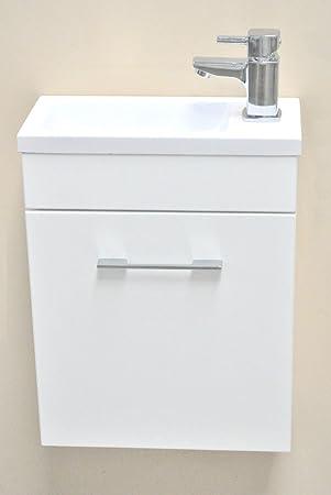 Mini Waschbecken Mit Unterschrank.Lattenrost Minimo Eckig Weiß Mini Waschbecken Mit Unterschrank 370 X 180