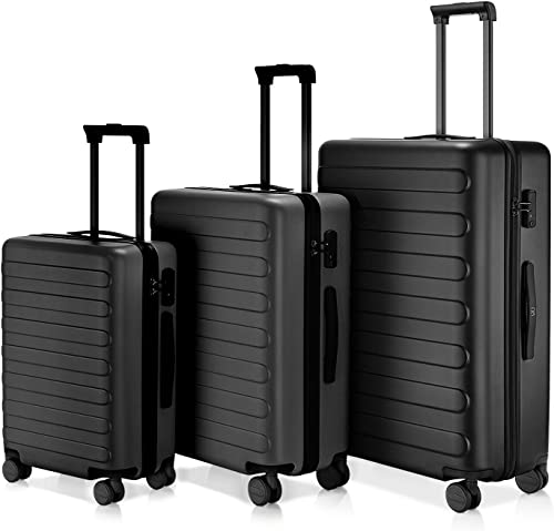 Luggage sets with Brake System only 20 , NINETYGO Lightweight Hardshell Suitcase 20 24 28 Inch 100 Polycarbonate with TSA Approved Lock Black