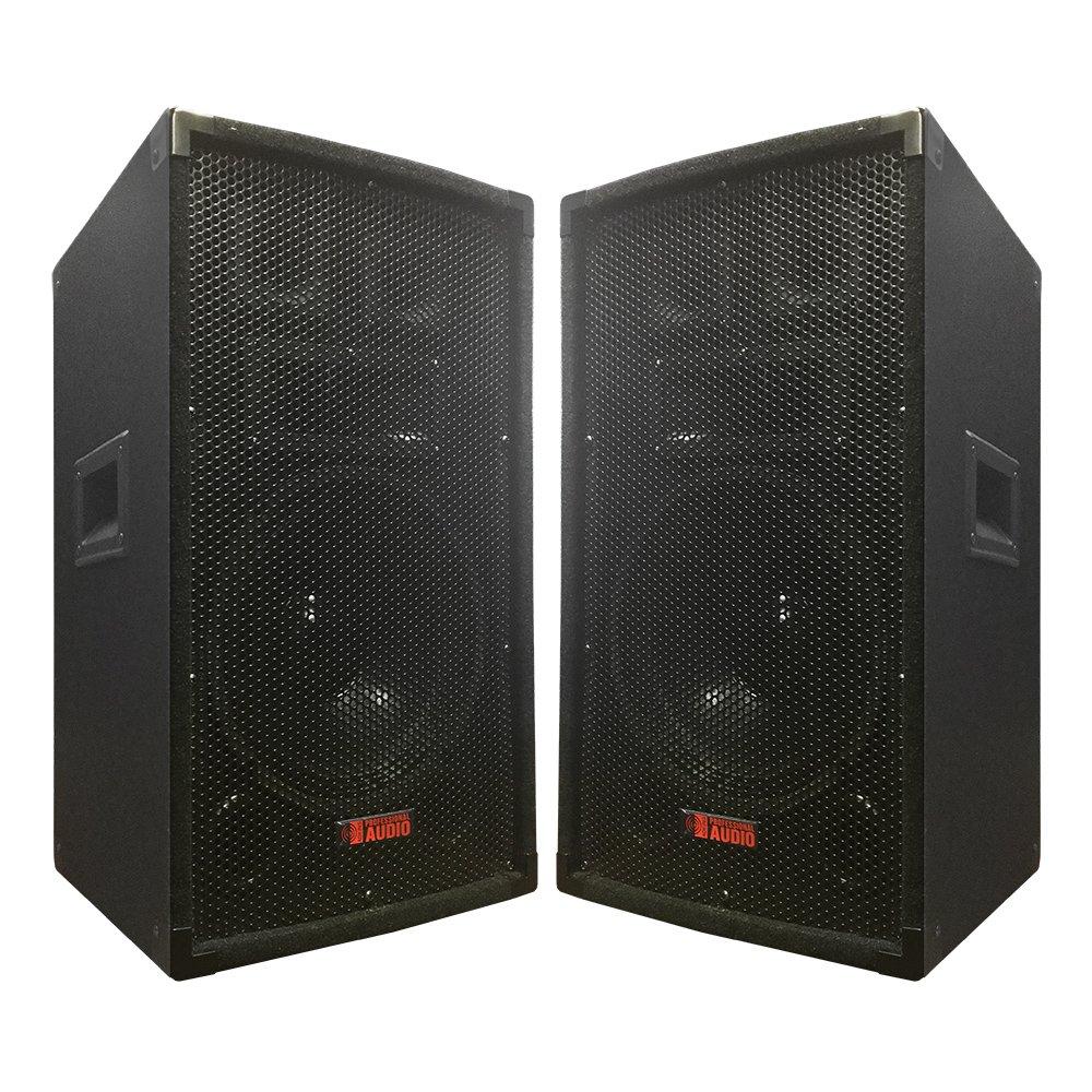 Adkins Professional Lighting TA-100 600 Watts 10-Inch 3-way Speakers (1 Pair) TA-100x2