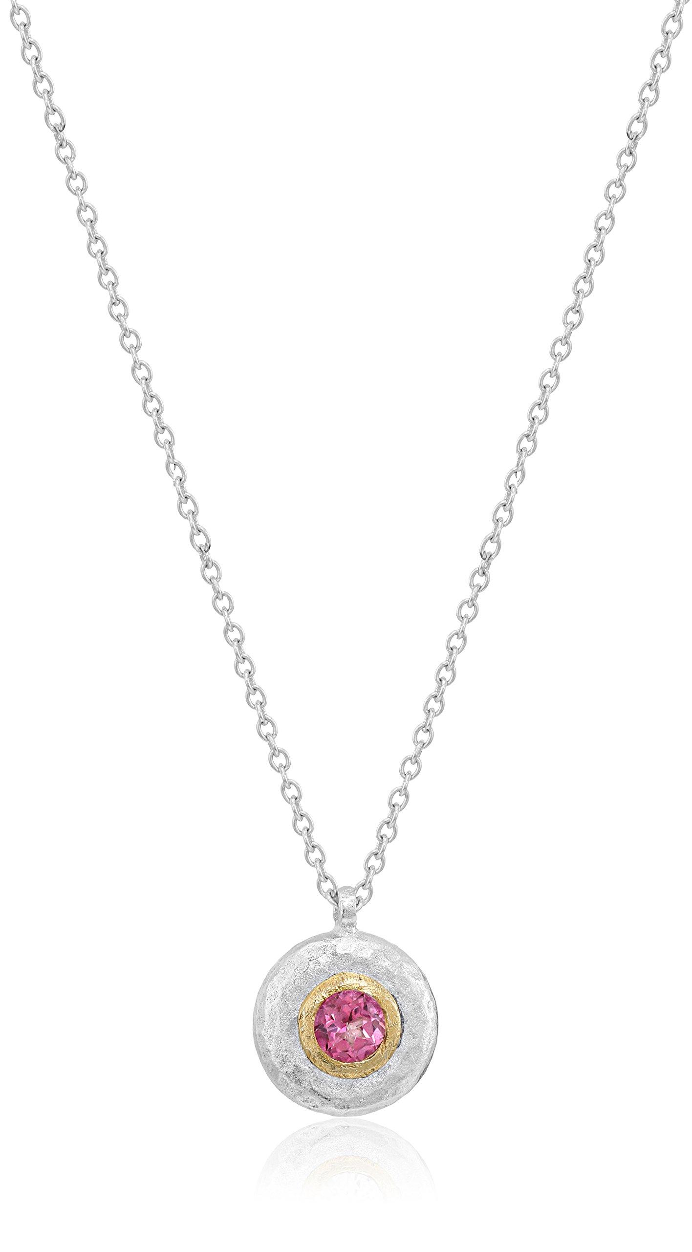 Gurhan Droplet Sterling Silver Pink Topaz Pendant Necklace, 18''