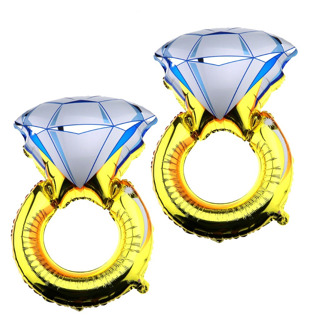 Emma 5, 1 x 81, 3 cm Diamant Ring 'I Do' Groß e Ballon Folie Luftballons Hochzeitsfeier Verlobungsring Hen Party Decor Braut Party Dekoration