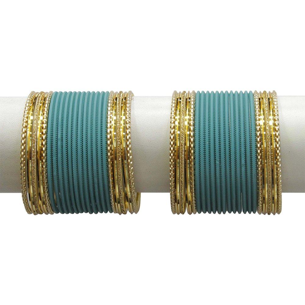 Party wear Set of 12 Indian Metal Bangles Handmade Bracelets Size 2.8 Large