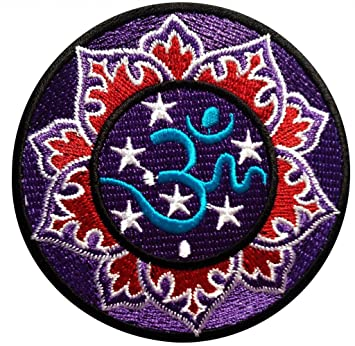 Yoga Inspiration Red Om Symbol Hatha Yoga Spiritual Hindu ...