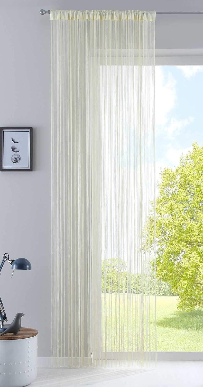 Fadengardine 20303CN geeignet f/ür Gardinenstangen und Gardinenschienen Fadenvorhang Fadenstore Raumteiler Bordeaux mit Tunneldurchzug und eingen/ähtem Kr/äuselband HxB 250x140 cm