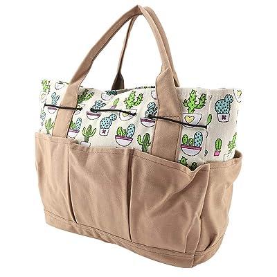 Wifehelper Garden Tool Bag Canvas Wear-Resistant Waterproof Lightweight Multi-Purpose Organizer Diaper Bag Holder Market Tote : Industrial & Scientific