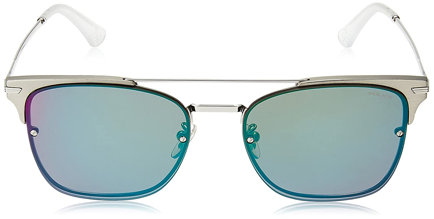 571d6008264 Police sunglasses Highway Two 3 (SPL-577 579V) Silver - Matt Gun - Grey  with Green mirror effect lenses  Amazon.ca  Clothing   Accessories