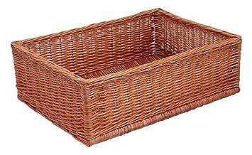 braun Picknickkorb oval T 60cm x B 38cm x H 30//34cm