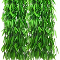 CozofLuv 50 Pack Artificial Plants Garland Vines Artificial Willow Leaves Garland Aesthetic Room Decor
