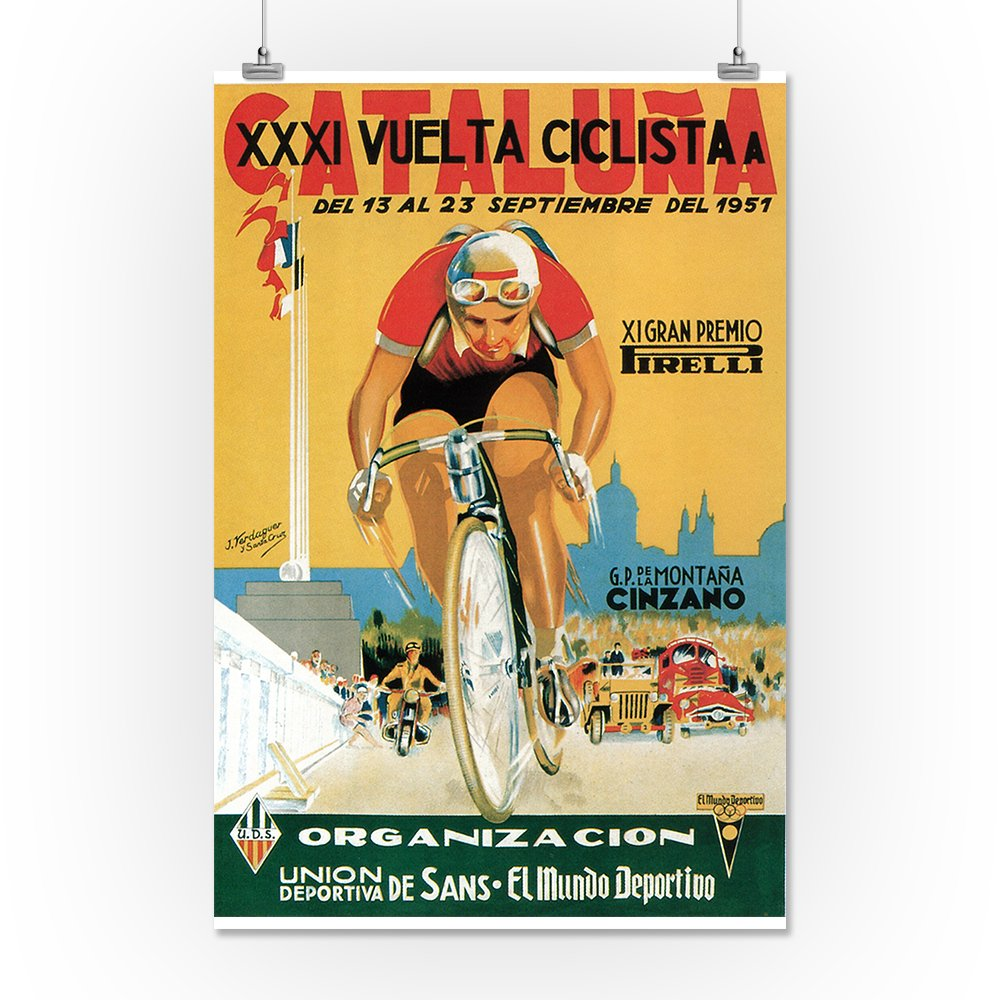 Amazon.com: Bicycle Racing - Vintage Promotional Poster ...