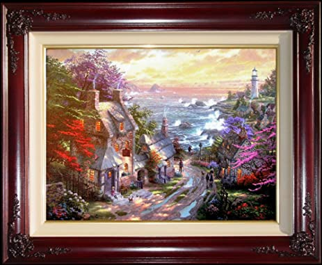 The Village Lighthouse By Thomas Kinkade 25 1 2 Quot X 34quot