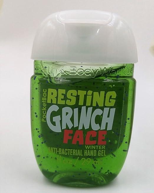 Bath & Body Works PocketBac Hand Gel Sanitizer Resting Grinch Face Winter