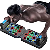 Push Up Bars 20-in-1, Multi-function Push Up Board for Strength Training, Foldable Push Up Stands Home Workout Equipment…