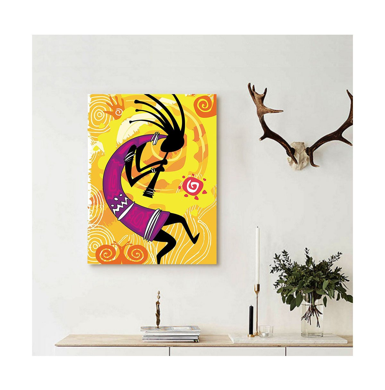 Amazon.com: Liguo88 Custom canvas Kokopelli Decor Collection ...