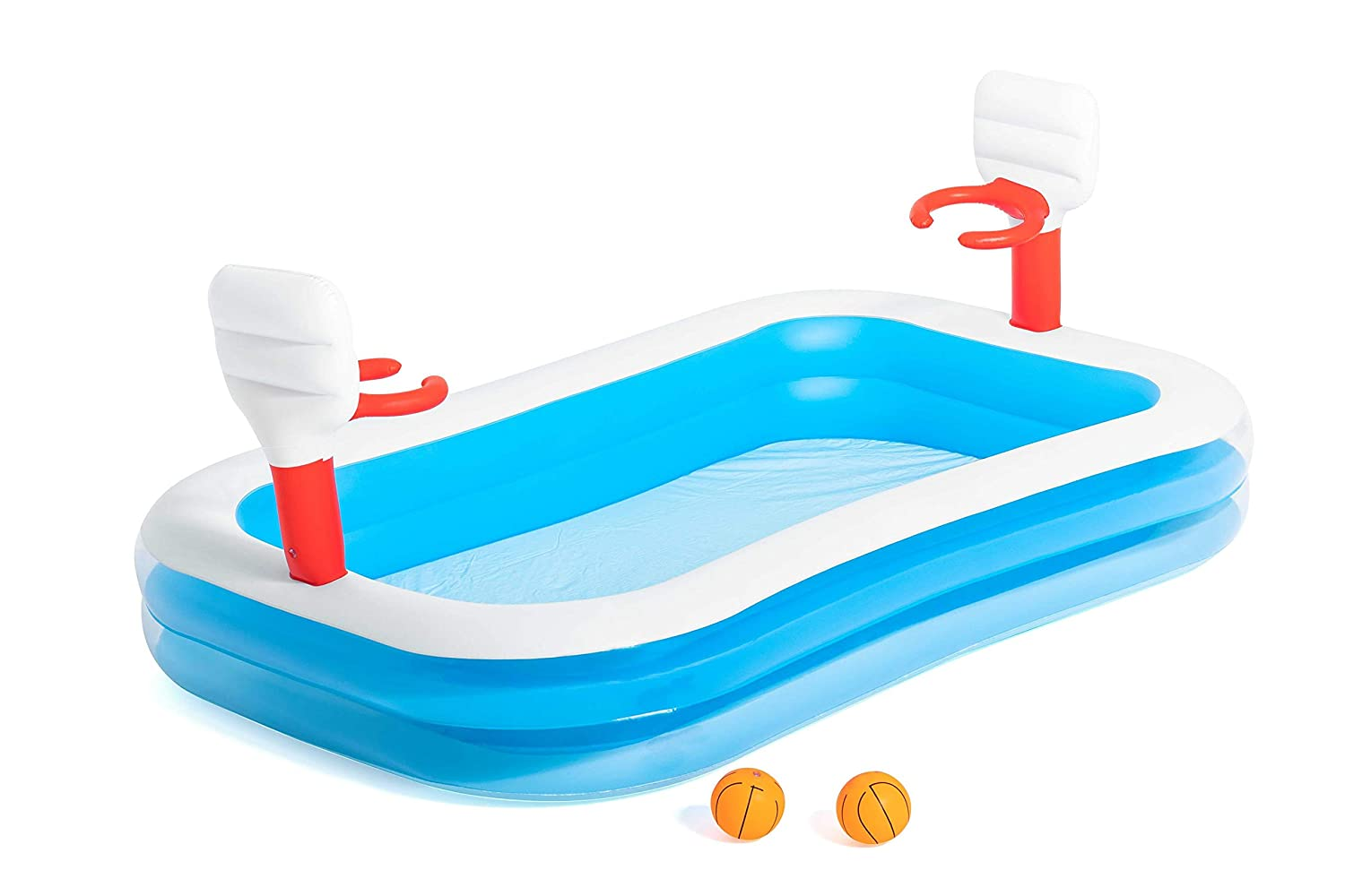 Amazon.com: h2ogo. Baloncesto hinchable Play Pool: Toys & Games