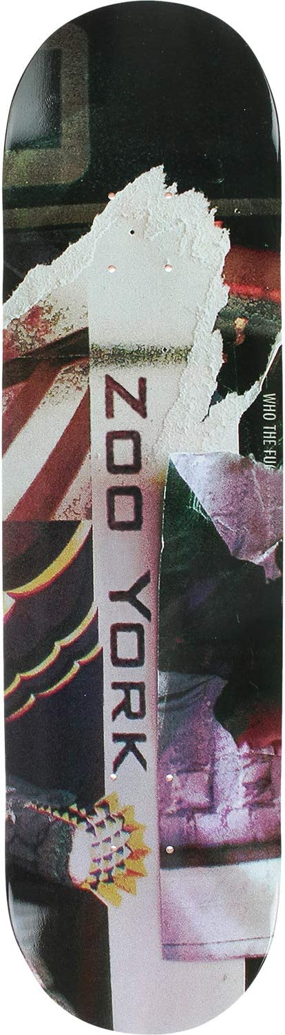 Bundle of 6 Items Zoo York Skateboards Bank Gothic Skateboard Deck 7.8 x 31.5 with Components