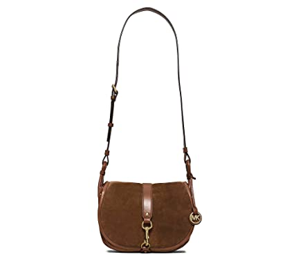 678acea4f421 Image Unavailable. Image not available for. Color  Michael Kors Jamie Large Suede  Crossbody Dark Camel Crossbody Bag