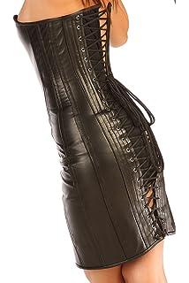 Amazon.com: Classic Victorian piel Negro Full Steel Boned ...