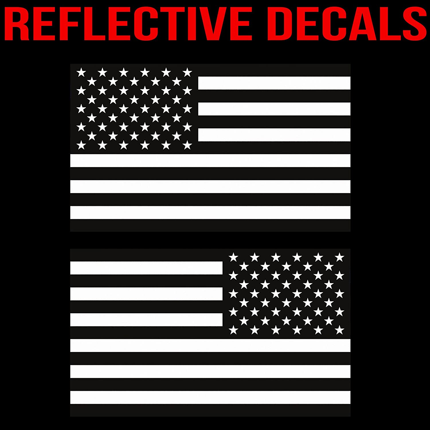 Pair Classic Biker Gear Ghosted Subdued American Flag car Decal Vinyl Decal car Sticker 1.8 X 3 CBG-STK-07 1.8 X 3 Lunch Box Silver with ghosted Black Print Hard Hat