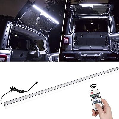 LED Liftgate Light Bar for Jeep Wrangler 2007-2020 JK JKU JL JLU Tailgate Windshield Rear Glass Lift Gate Dome Light Bar: Automotive