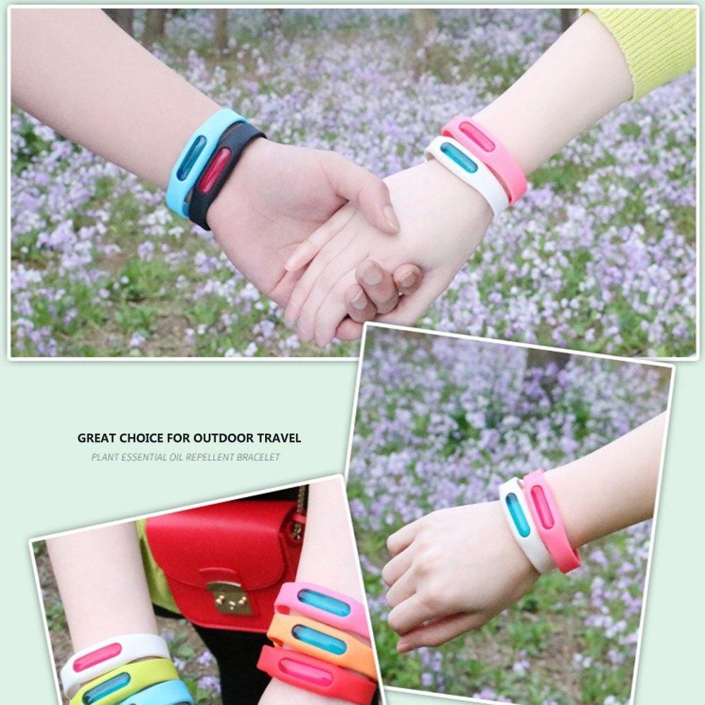Bracelet Anti Moustique R/églable Anti-Insecte de Silicone et Bangle de Cheville pour Les Enfants B/éb/é Adultes Wristband 100/% Naturel /à Base de Plantes Anti-Moustique 3 Packs