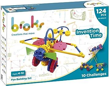 BROKS Invention Time - Juego de construcción STEM con 124 piezas ...