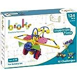 BROKS Invention Time - Juego de construcción STEM con 124 piezas encajables con engranajes y piezas flexibles para niños y niñas de 4 a 10 años - Nuevo Modelo