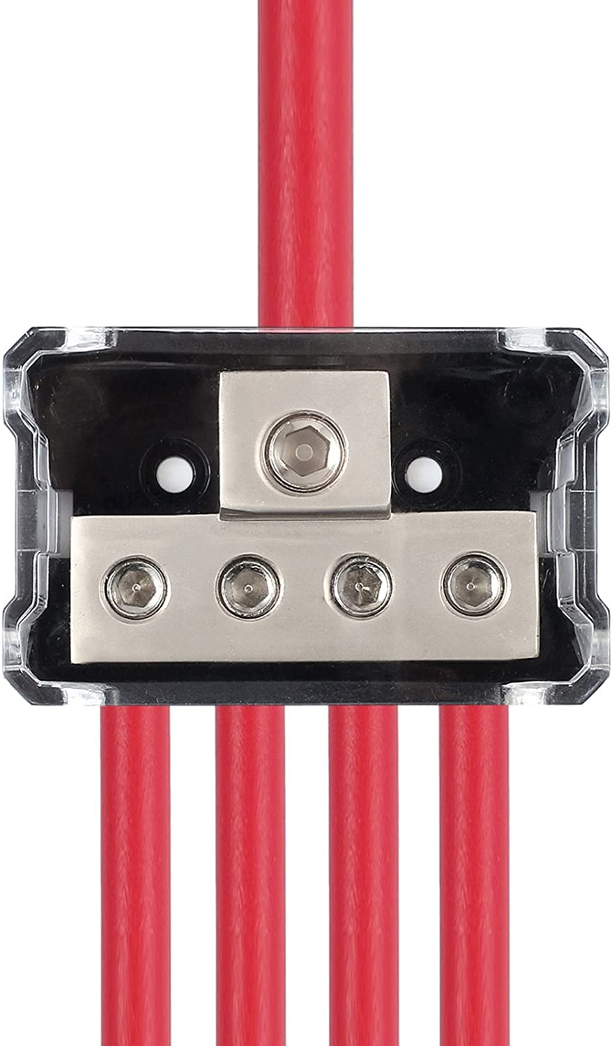CAMWAY 2pcs 1//0 Gauge in to 4 Gauge Out Power Distribution Block