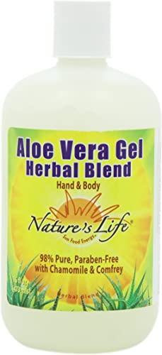 Nature s Life Aloe Vera Gel, Herbal Blend, 16 Ounce