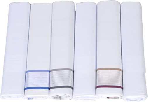 Boxed Gift 6 Piece Cotton Handkerchiefs FH006-1