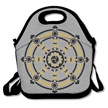 amazon com buddhism symbol wheel of dharma lunch tote lunch box