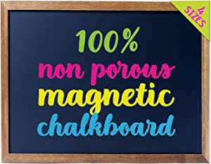 "Cedar Markers 24""x18"" Chalkboard with Wood Frame. 100% Non-Porous Erasable Blackboard and Whiteboard for Liquid Chalk Markers. Magnet Board Chalk Board (24x18)"
