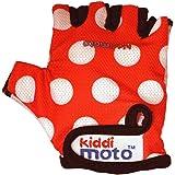 Kiddimoto - GLV012 - Vélo et Véhicule pour Enfant - Paire de Gant - Red Dotty