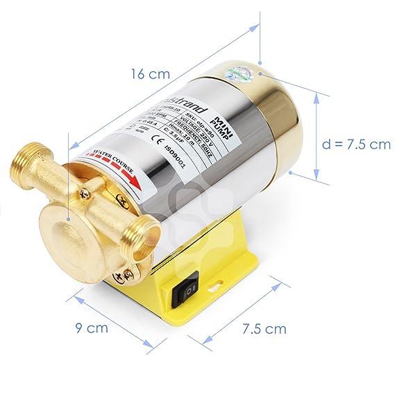 90W Nordstrand Booster Bomba de De Agua Alta Presión Diafragma Automático para Ducha y Jardín: Amazon.es: Bricolaje y herramientas