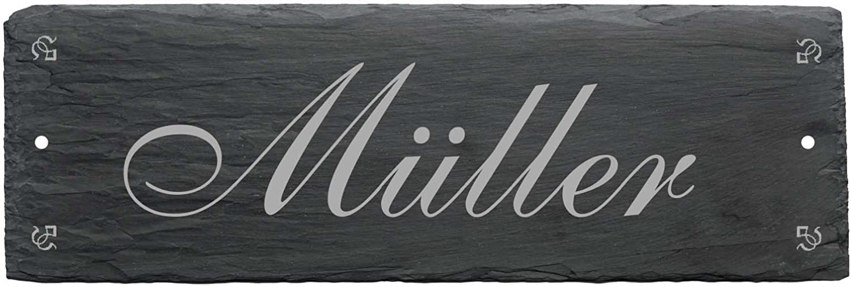 Schild Name Wachtelzüchter Wetterfestes Türschild « WACHTEL 01 » Schiefer pers