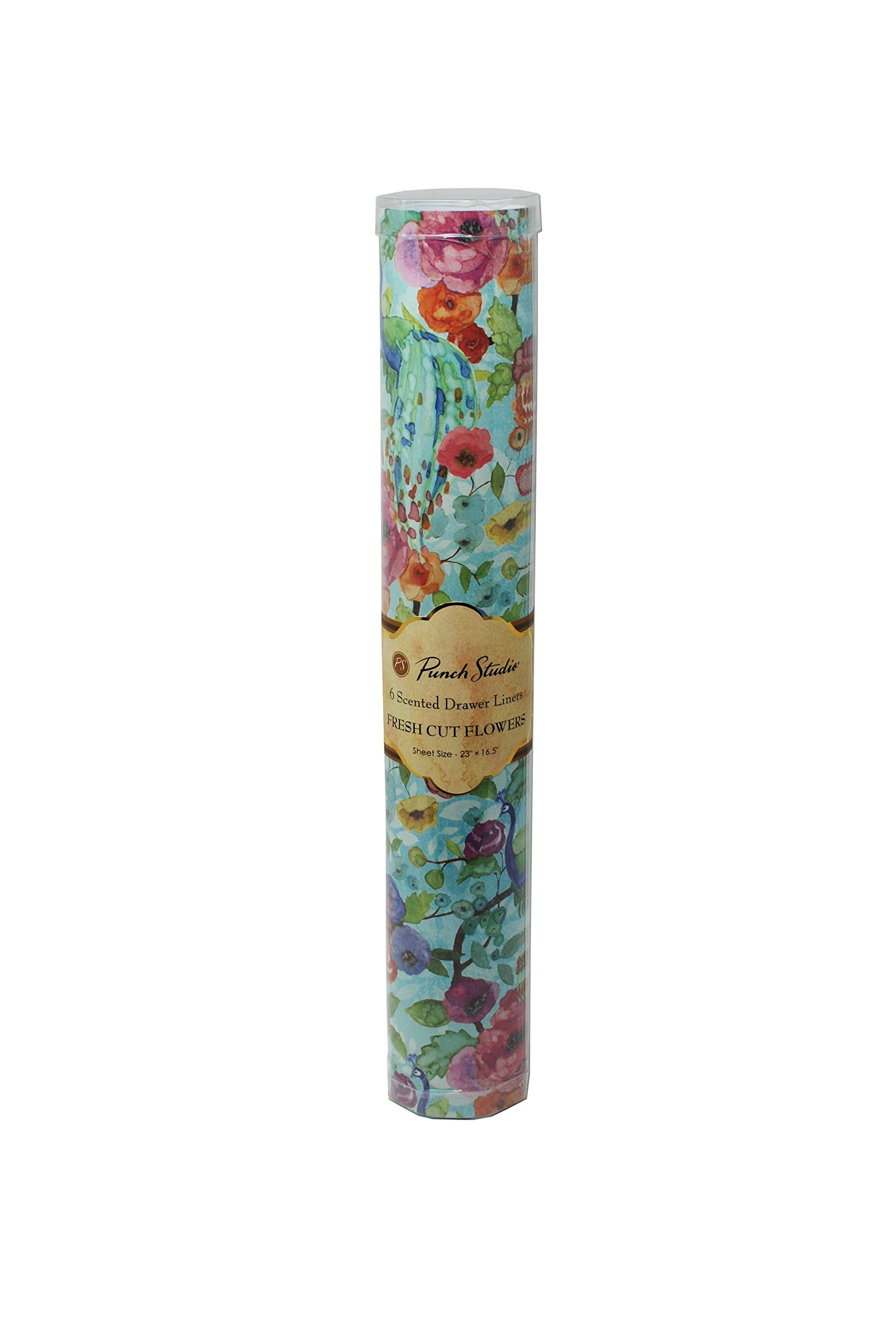 Punch Studio Floral Peacock Scented Drawer Liners