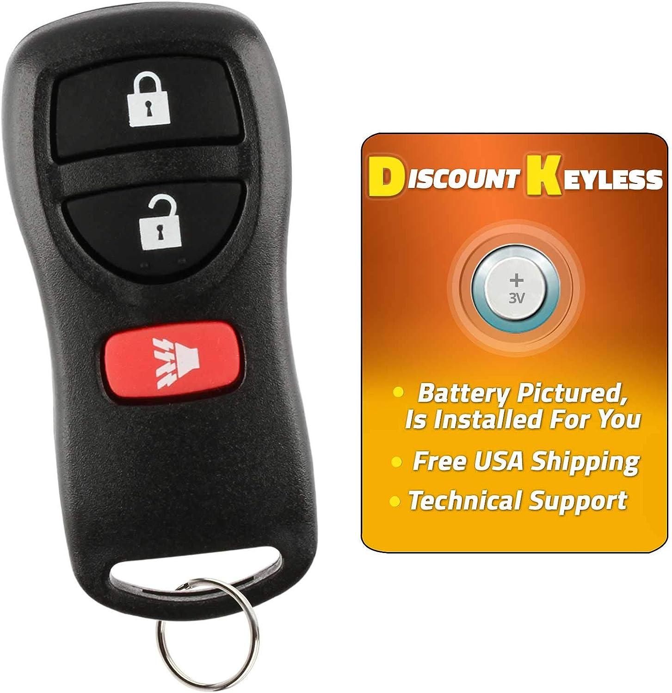 KeylessCanada /© 1 New Replacement Keyless Entry Remote Control Key Fob For Nissan Infiniti CWTWB1U751 Shell//Case
