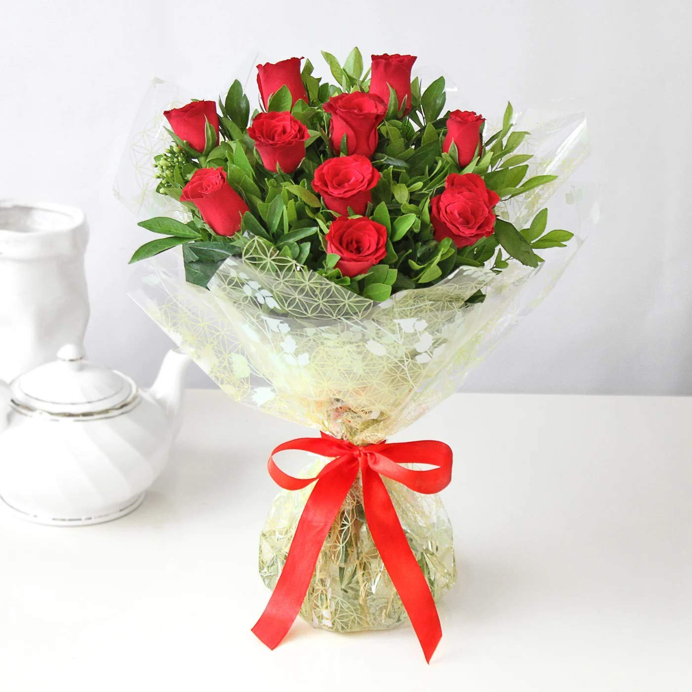 Sprinkle Dreams Happy Birthday Roses Bouquet Red Amazon In Garden Outdoors