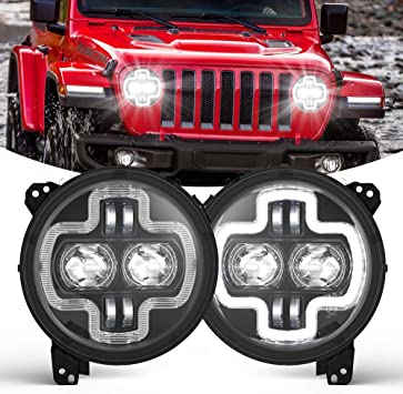 Amazon Com Bunker Indust 9 Inch Jeep Jl Led Headlights With Halo