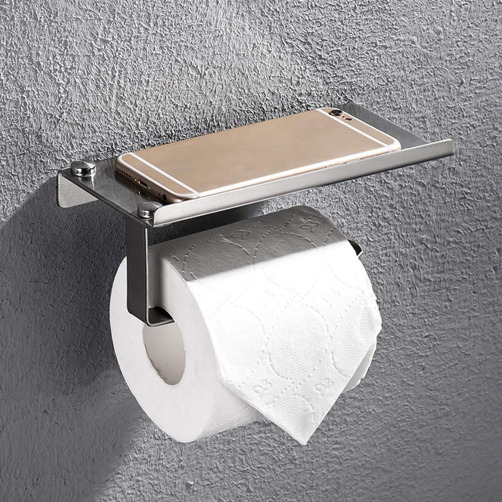 ERT Toilet Paper Holder,Stainless Steel Does Not Rust Load-Bearing Strength Roll Holder Toilet Paper Holder Corrosion Protection Paper Towel Holder
