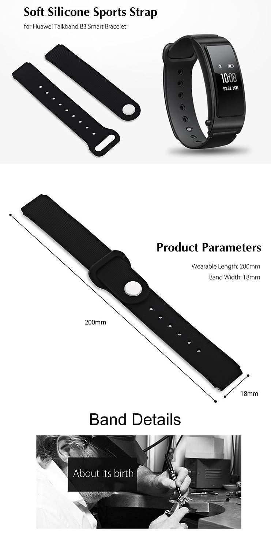 Tini Regner Correa de silicona para Huawei Talkband B3, 18 mm ...