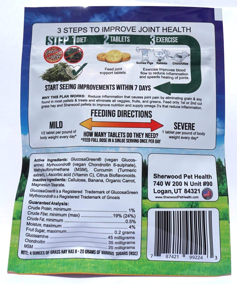 Sherwood Pet Health Vegan Joint Support (100 Tablets - 50 Grams) by Sherwood Pet Health (Image #2)